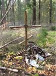 крест на месте крушения самолёта