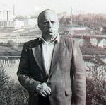 Портрет Е.И.Киреева на фоне Калуги