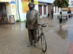 Циолковский с велосипедом